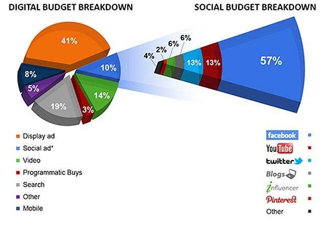 Dettaglio spesa social media